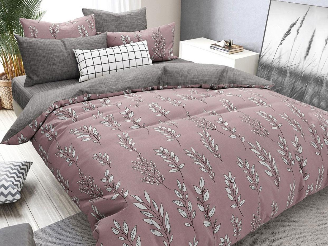 Комплект постельного белья Веточки Бордо